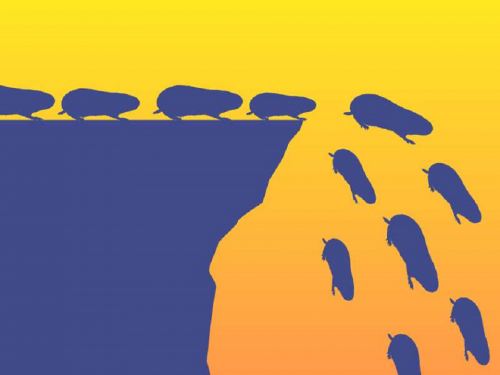 Lemmings Really Commit Mass Suicide illustration